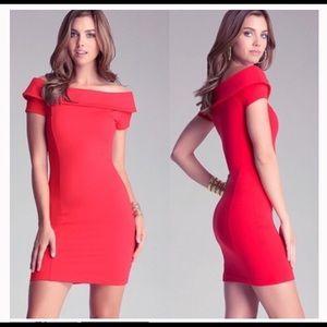 Bebe red bodycon dress